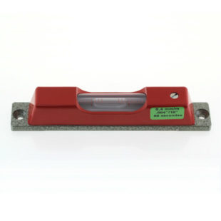 130/0.05 – Screw on level, adjustable, 120mm long, sens. 0.05mm/m