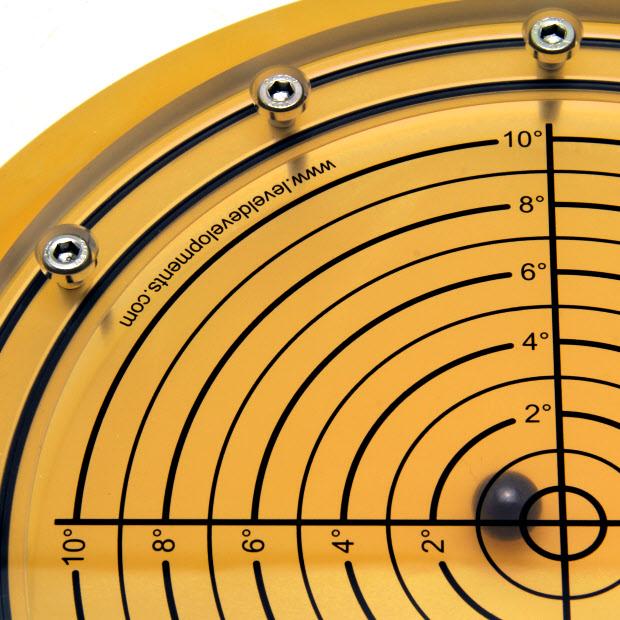 5648/6 – Subsea bullseye level (ball inclinometer), Ø250, range ±10°