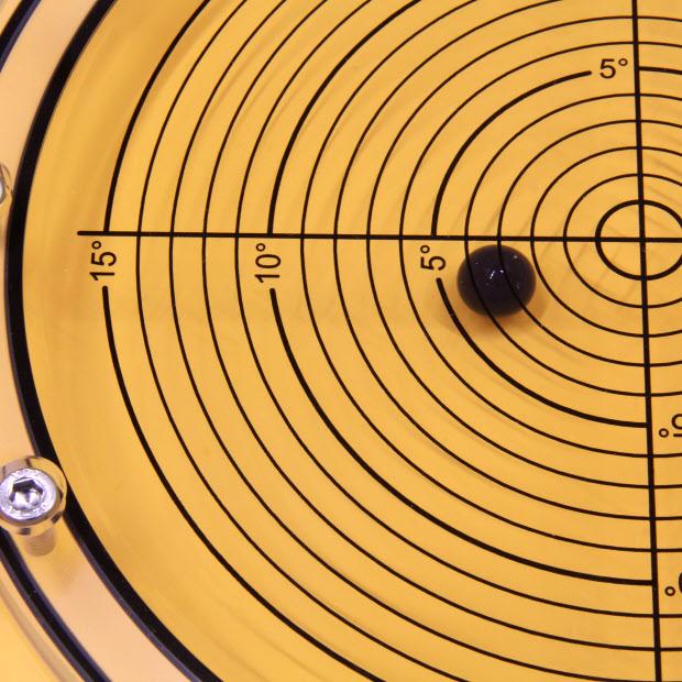 5648/7 – Subsea bullseye level (ball inclinometer), Ø250, range ±15°