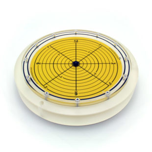 5886/2 – Subsea bullseye level (ball inclinometer), Ø300, range ±2°