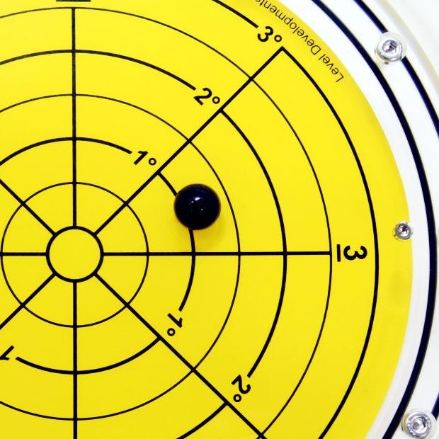 5886/3 – Subsea bullseye level (ball inclinometer), Ø300, range ±3°