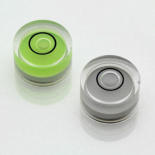 AV14G – Plastic circular vial, Ø14x8mm, Green, 34'/2mm