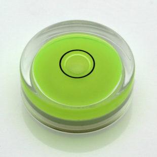 AV30G – Plastic circular vial, Ø30x10mm, Green, 37'/2mm
