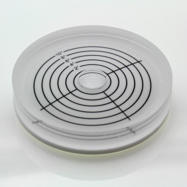 AV60/10 – Plastic circular level, Ø60x12mm, range ±10°