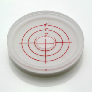 AV60/2 – Plastic circular level, Ø60x12mm, range 0-2°