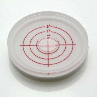AV60/2 - Dosenlibelle aus Kunststoff, Ø 60x12mm, range 0-2°