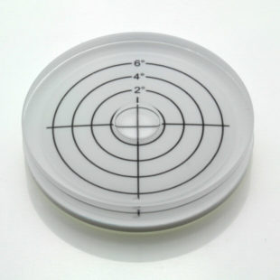 AV60/6 – Plastic circular level, Ø60x12mm, range 0-6°