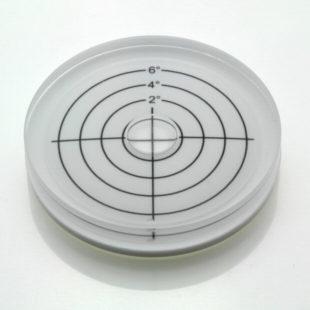 AV60/6 – Plastic circular level, Ø60x12mm, range 0-6°