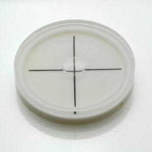 AV60 – Plastic circular vial, Ø60x12mm, cross lines