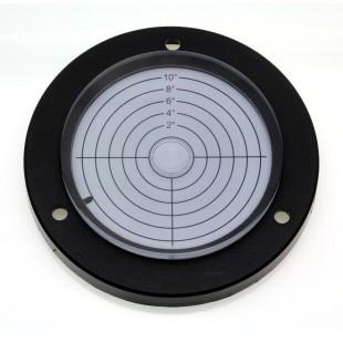 AVF100/10 – Plastic circular level, Ø100mm, range ±10°