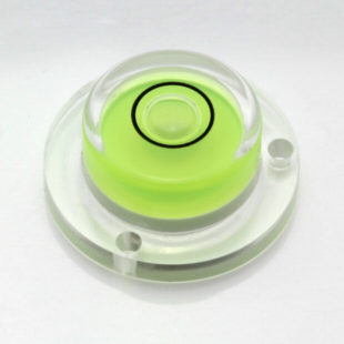 AVF20 – Plastic circular level, Ø20mm, green liquid
