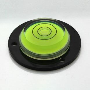 AVF43BG – Plastic circular level, Ø43mm, green liquid