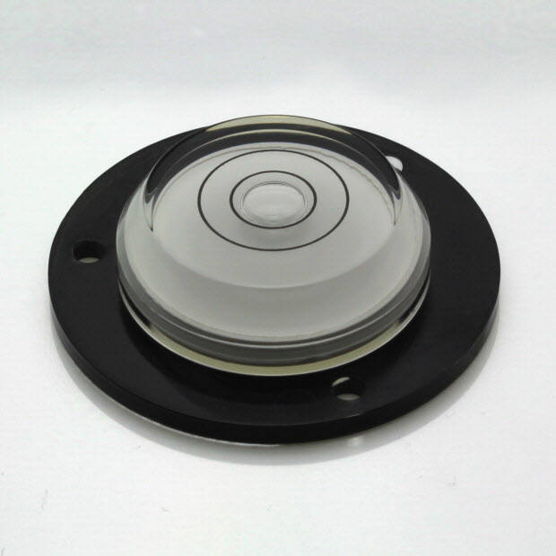AVF43B – Plastic circular level, Ø43mm, clear liquid