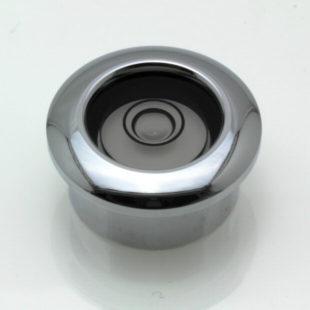 CF22 – Flush Mount Circular Level, Ø22mm, Chrome finish