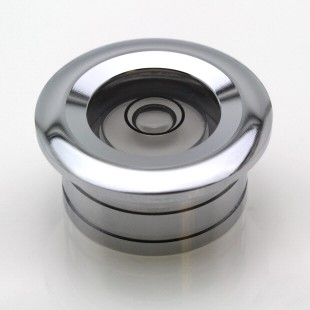 CF25 – Flush Mount Circular Level, Ø25mm, Chrome finish
