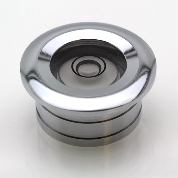 CF25 – Flush Mount Circular Level, Ø25mm, Chrome finish