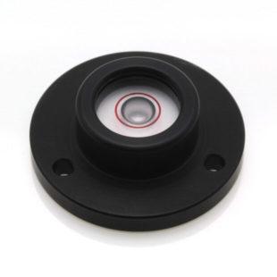 CG30B – Circular level Ø30mm, black anodised, Glass vial