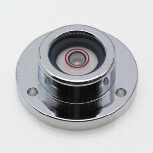 CG32 – Circular level, Ø32mm, chrome finish, glass vial 20min/2mm