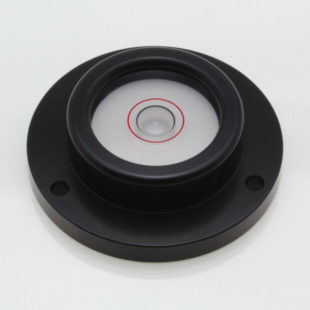CG50B – Circular level, glass vial, black anodised case
