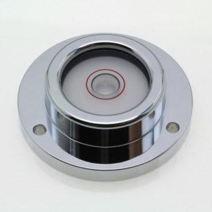 CG50 – Circular level, glass vial, chrome finish, Ø50mm