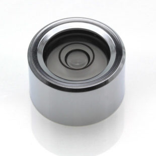 CI17 – Circular level, Ø17×10, chrome finish, plastic vial, 34'/2mm