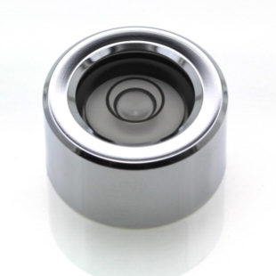 CI20 – Circular level, Ø20×11, chrome finish, plastic vial, 34'/2mm