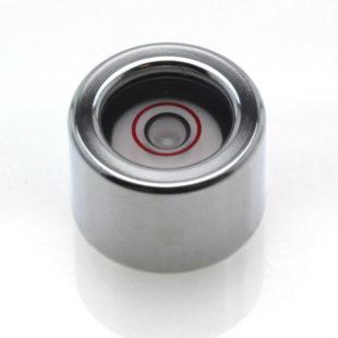 CIG15 – Circular level, Ø15×10, chrome finish, glass vial, 25'/2mm