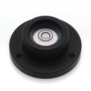 CP32B – Circular level, Ø32mm, Black anodised finish, plastic vial