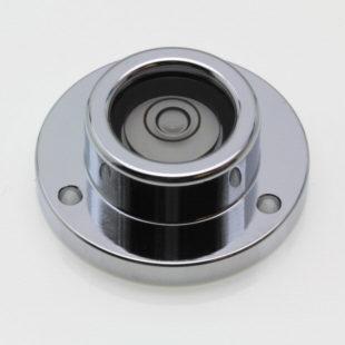 CP32 – Circular level, Ø32mm, chrome finish, plastic vial