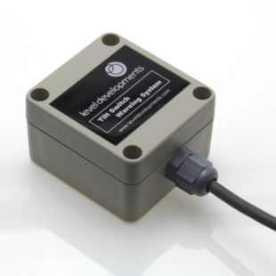 ELS-DR-2-0.5-1 – Single axis dual relay tilt switch, adjustable range ±0.2° to ±1.7°,  0.5Hz Filter.