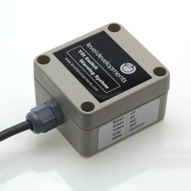 ETS-10-25-S – Single axis tilt switch, adjustable range ±10° to ±25°