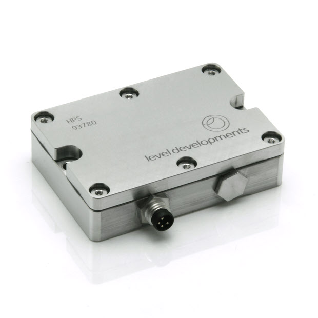 HPS-10-2-232 – Precision inclinometer, single axis, ±10°, RS232 output, with temperature compensation
