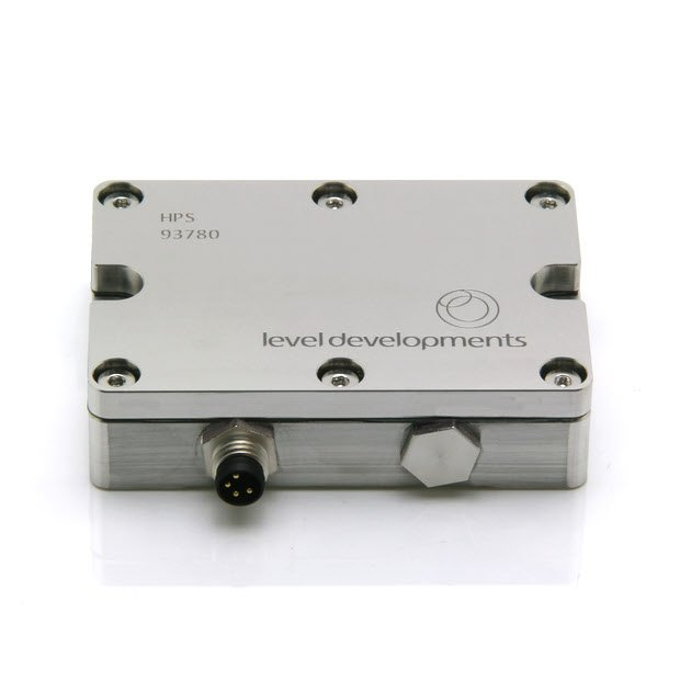 HPS-10-2-485 – Precision inclinometer, single axis, ±10°, RS485 output, with temperature compensation