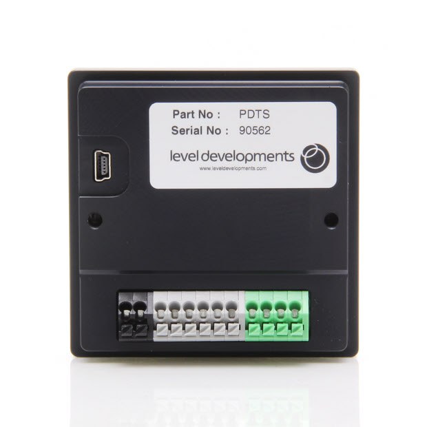 PDTS-LCH-45 – Dual Axis ±45° LCH Inclinometer with Panel Mount Tilt Switch Display