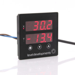 PDTS – Low cost dual axis panel mount inclinometer display and tilt switch.