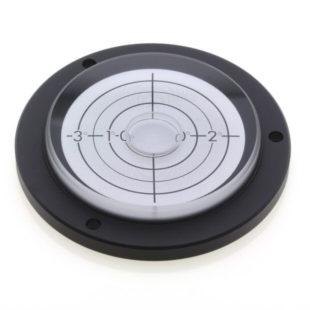 PVF80/3 – Plastic circular level, 80mm dia., 0-3deg