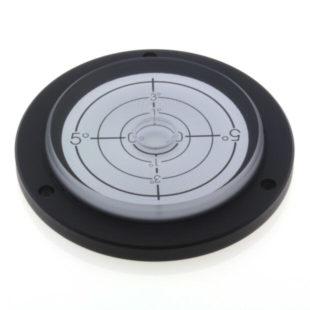 PVF80/5 – Plastic circular level, 80mm diameter, range ±5°