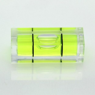 S29 – Plastic sq. section vial, 29x10x10mm, green liquid