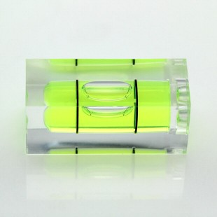 S36 – Plastic sq. section vial, 36x15x15mm, green liquid