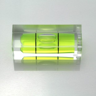 S40 Plastic Sq Section Vial 40x15x15mm Green Liquid