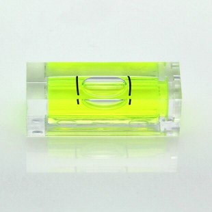 SC29 – Plastic sq. section vial, 29x10x10mm, green liquid