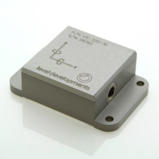 VS-05-C-1-5 – Inclinometer, 2 axis, ±5°, RS232 & 0-10V out, M9 connector
