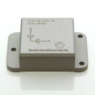 VS-15-C-2-5 – Inclinometer, 2 axis, ±15°, RS232 & 0-10V out, M9 connector