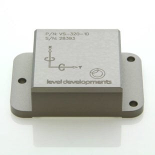 VS-05-C-2-3 – Inclinometer, 2 axis, ±5°, RS232 & 0-5V out, M9 connector
